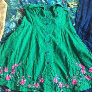 eShakti 22 2x butterfly flower embroidered dress